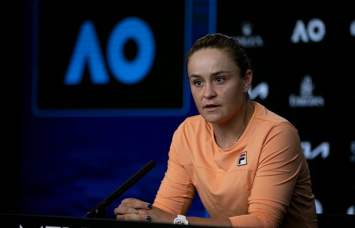 Ash Barty after her Australian Open 2021 quarterfinal.