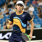 Alex de Minaur in the second round of Australian Open 2021.