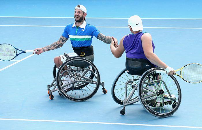 Heath Davidson and Dylan Alcott at Australian Open 2021