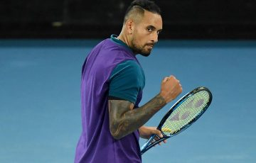 NIck Kyrgios at Australian Open 2021.