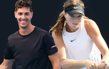 ON THE RISE: Thanasi Kokkinakis and Olivia Gadecki. Pictures: Tennis Australia