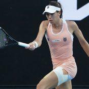 Ajla Tomljanovic competes against word No.2 Simona Halep at Australian Open 2021
