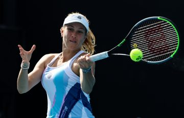 Ellen Perez in action. Picture: Tennis Australia