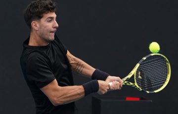 Thanasi Kokkinakis in action. Picture: Tennis Australia