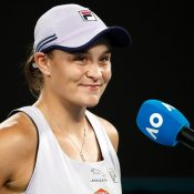 Ash Barty at AO 2021; Getty Images