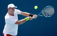 James Duckworth during his second-round win in Miami. Picture: Getty Images