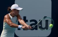 Ash Barty in action at the Miami Open. Picture: Getty Images