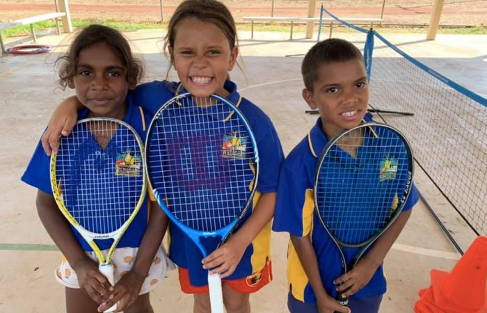 Young players cherish their first experience of tennis