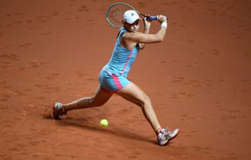 Ash Barty in action in Stuttgart. Picture: Getty Images