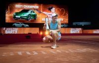 Ash Barty celebrates her Stuttgart title win. Picture: Getty Images