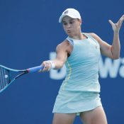 Ash Barty competing in Miami
