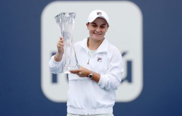 Ash Barty lifts her 10th singles trophy at Miami; Getty Images