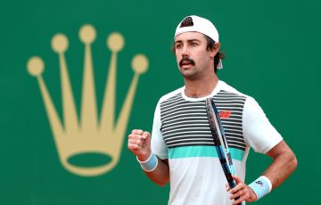 Jordan Thompson in action in Monte Carlo. Picture: Getty Images