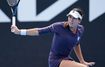 Ajla Tomljanovic competing in Melbourne