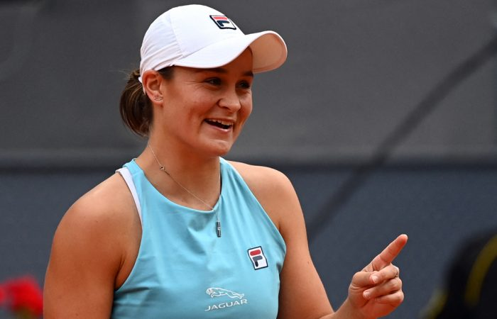 Ash Barty is thriving on clay in the 2021 season; Getty Images