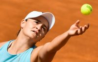 Ash Barty in action in Rome. Picture: Getty Images