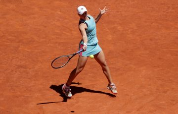 Ash Barty during her semifinal win in Madrid. Picture: Getty Images