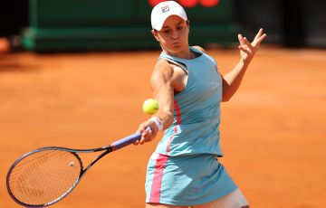 Ash Barty lines up a forehand in Rome. Picture: Getty Images