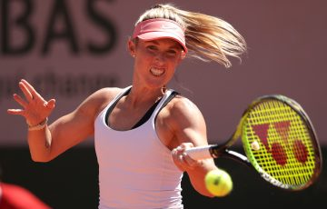 Storm Sanders during her first-round match at Roland Garros. Picture: Getty Images
