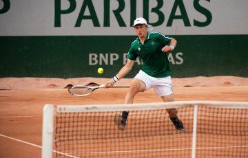 Australia's Marc Polmans in action at Roland Garros. Picture: Twitter
