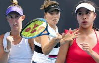 AUSSIE HOPES: Storm Sanders, Olivia Gadecki and Lizette Cabrera are all contesting qualifying at Roland Garros 2021. Pictures: Tennis Australia