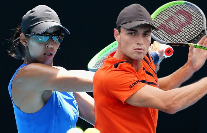 WILDCARDS: Australians Astra Sharma and Chris O'Connell will contest the Roland Garros main draw in 2021. Pictures: Tennis Australia