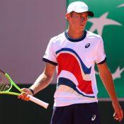 Alex de Minaur competing at Roland Garros 2021