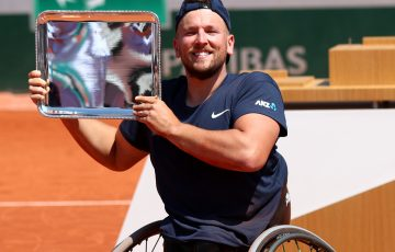 Dylan Alcott lifts his third quad wheelchair singles title at Roland Garros; Getty Images