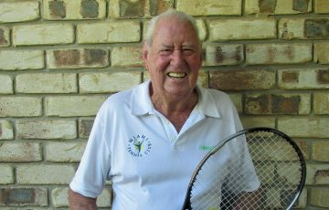 Frank Tudball from the Miami Tennis Club in Queensland.