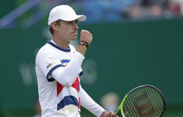Alex de Minaur celebrates his quarterfinal win at Eastbourne, Picture: Getty Images