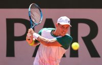 James Duckworth during his first-round win at Roland Garros. Picture: Getty Images