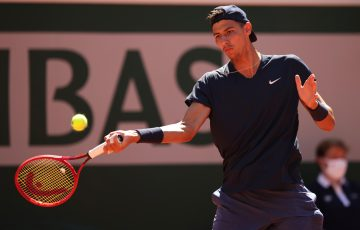 Alexei Popyrin in action at Roland Garros. Picture: Getty Images