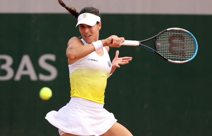 Ajla Tomljanovic during her second-round loss at Roland Garros. Picture: Getty Images