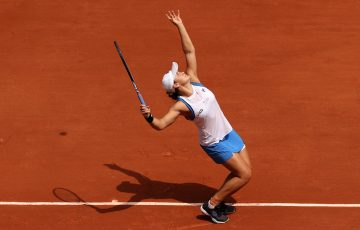Ash Barty at Roland Garros. Picture: Getty Images