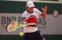Alex de Minaur during his second-round loss at Roland Garros. Picture: Getty Images