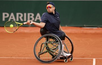 Dylan Alcott in action in Paris. Picture: Getty Images