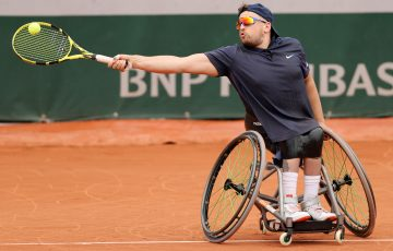 Dylan Alcott at Roland Garros. Picture: Getty Images