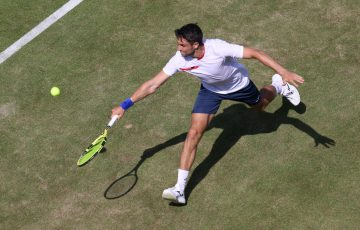 Aleksandar Vukic in action at Queen's Club. Picture: Getty Images