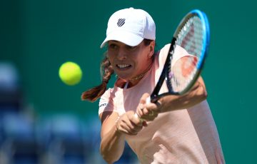 Ajla Tomljanovic in action in Birmingham. Picture: Getty Images