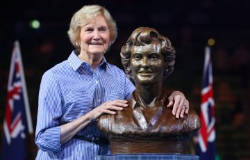 Beryl Collier (nee Penrose) at her Australian Tennis Hall of Fame induction at Australian Open 2017. Picture: Getty Images