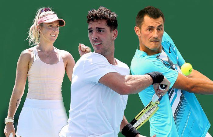 AUSSIE HOPES: Storm Sanders, Thanasi Kokkinakis and Bernard Tomic will contest Wimbledon qualifying this week.
