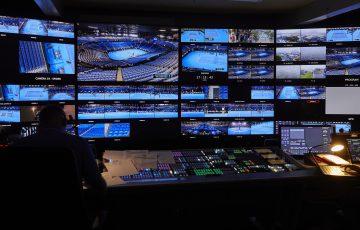 MELBOURNE, AUSTRALIA, January 20: Broadcast Compound at Precinct on January 20, 2020 in Melbourne, Australia. (Sense 6, Sam Wong/Tennis Australia) MANDATORY PHOTO CREDIT TENNIS AUSTRALIA