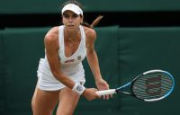 Ajla Tomljanovic in the quarterfinals of 2021 Wimbledon; Getty Images