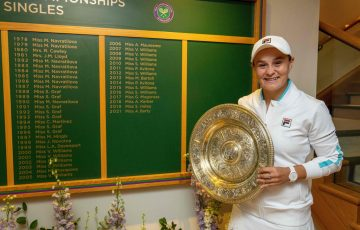 World No.1 Ash Barty joins esteemed company as a Wimbledon champion; Getty Images