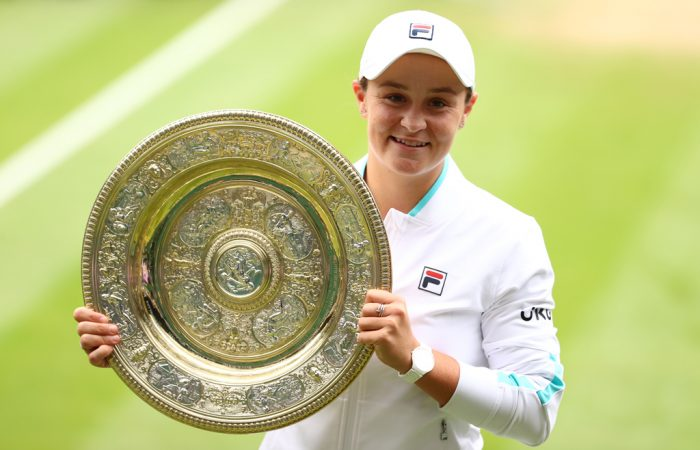 Australia's Ash Barty is the 2021 Wimbledon ladies' singles champion; Getty Images