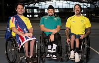 Martyn Dunn, Dylan Alcott and Heath Davidson are preparing to contest the Paralympics in Tokyo; picture - Fiona Hamilton