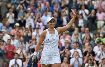 Ash Barty is appreciating the support at Wimbledon. Picture: Getty Images