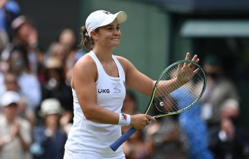 Ash Barty at Wimbledon. Picture: Getty Images