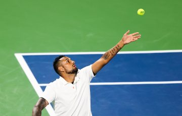 Nick Kyrgios in Atlanta. Picture: Getty Images