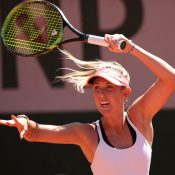 Storm Sanders, pictured at Roland Garros, has progressed to the Prague quarterfinals; Getty Images